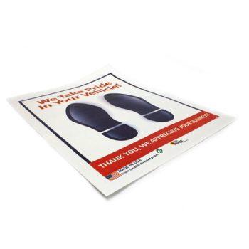 Wet Strength Footprint Floor Mats