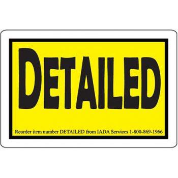 """""""Detailed"""" Sticker Roll"""