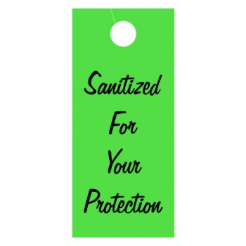 """Sanitized"" Hang Tag"