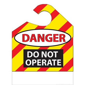 """""""Danger – Do Not Operate"""" Hang Tags"""