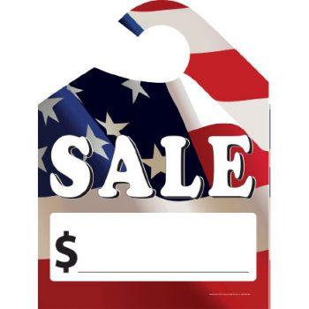 """""""Sale"""" Flag Hang Tags"""