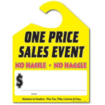 """""""One Price Sales Event"""" Hang Tags"""
