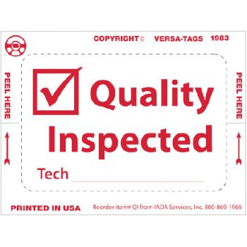 """""""Quality Inspected"""" Window Tags"""