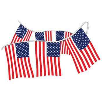 American Flag 60' String