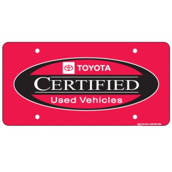 Ad plate toyota